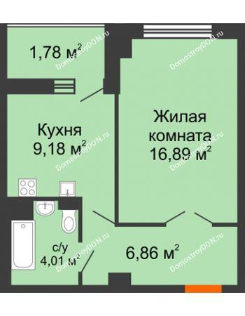 1 комнатная квартира 40,32 м² в ЖК Университетский 137, дом Секция С1