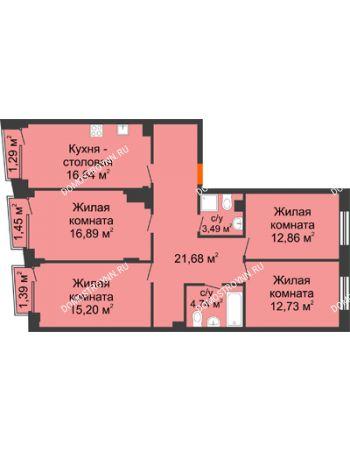 4 комнатная квартира 105,29 м² - Клубный дом на Ярославской