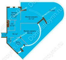 3 комнатная квартира 125,8 м², ЖК Бояр Палас - планировка