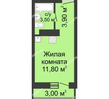 Студия 19,2 м² в ЖК Корабли, дом № 11 - планировка