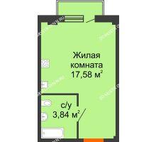 Студия 21,94 м² в ЖК Лайм, дом № 1 - планировка