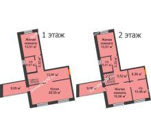 3 комнатная квартира 122,12 м² в ЖК Шоколад , дом ГП-1 - планировка