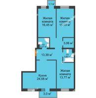 3 комнатная квартира 94,11 м² в ЖК Новоостровский, дом № 2 корпус 2 - планировка