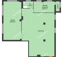 1 комнатная квартира 221,3 м², ЖК ROLE CLEF - планировка