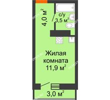 Студия 20,3 м² в ЖК Корабли, дом № 10 - планировка