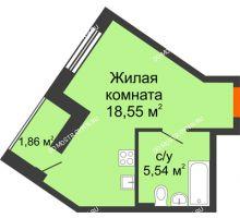 Студия 25,95 м² - ЖК Пушкин