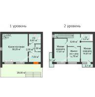 3 комнатная квартира 115 м² в Клубный посёлок Панорама, дом Гангутская, 18 (таунхаусы 115м2 и 91м2) - планировка
