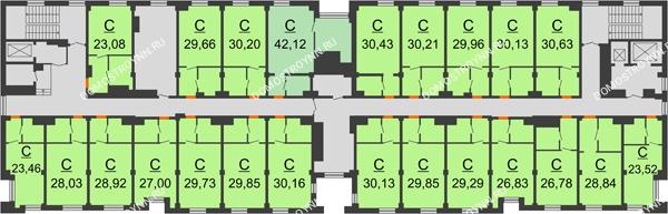 Апарт-Отель Гордеевка - планировка 4 этажа