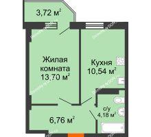 1 комнатная квартира 36,3 м² в ЖК Свобода, дом № 1 - планировка