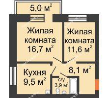 3 комнатная квартира 72,4 м², Жилой дом по ул. Львовская, 33а - планировка