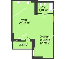 Студия 44,19 м², ЖК Орбита - планировка