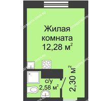 Студия 17,16 м² в ЖК Бурнаковский, дом № 38 - планировка
