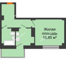 1 комнатная квартира 37,7 м² в ЖК Сокол Градъ, дом Литер 4 - планировка