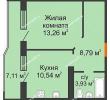 1 комнатная квартира 40,08 м² в ЖК Губернский, дом Литер 29 - планировка